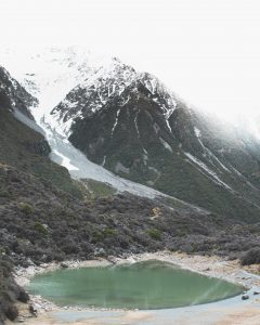 Blue Lakes Tasman Glacier Neuseeland