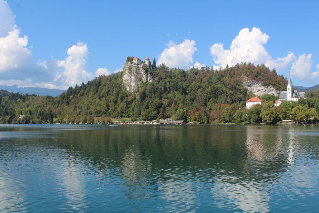 Die Burg Bled und die Kircheninsel