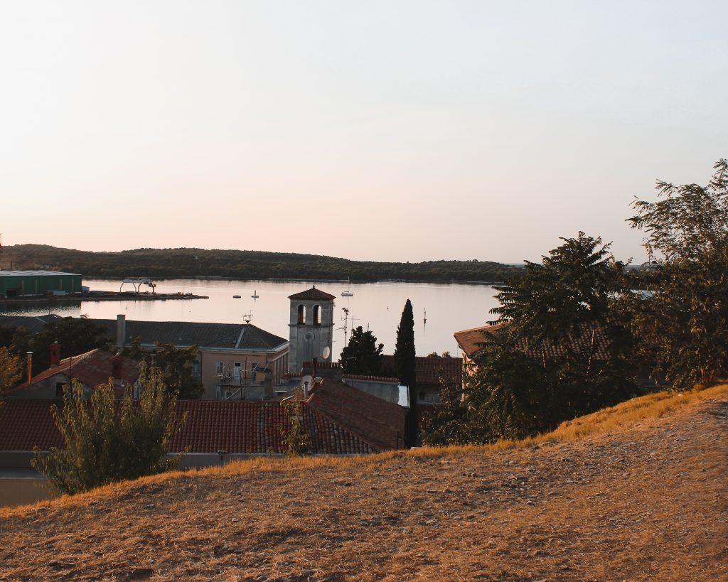 Aussicht in Pula, Istrien