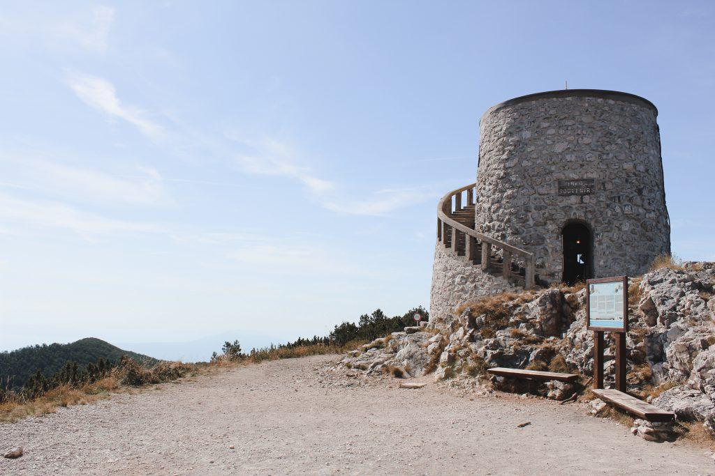 Gipfel Vojak im Naturpark Ucka in der Nähe von Istrien